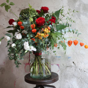 Love Bouquet in Vaso di vetro