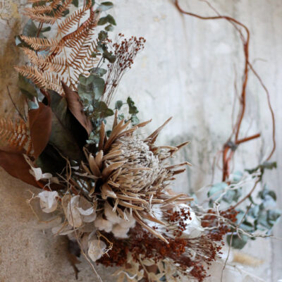 Wreath of the year – dried flowers
